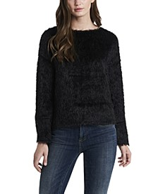 Women's Eyelash Faux Fur Top