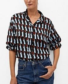 Women's Printed Flowy Shirt