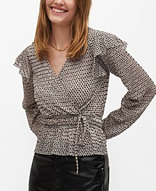 Women's Wrap Printed Blouse