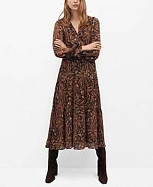 Women's Paisley Print Dress