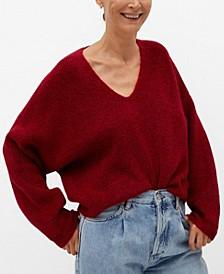 Women's Openwork Knit Sweater