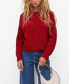 Women's Open Work-Detail Sweater