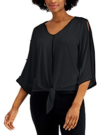 Flared-Sleeve Tie-Front Top, Created for Macy's