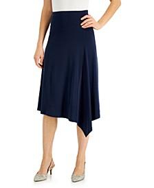 Asymmetrical-Hem Knit A-Line Skirt, Created for Macy's