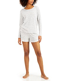 Long-Sleeve Top & Shorts Pajama Set, Created for Macy's