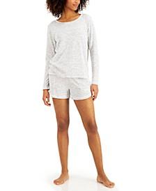 Long-Sleeve Top & Shorts Pajama Set, Created for Macy's