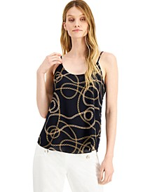 Chain-Print Camisole Top, Created for Macy's