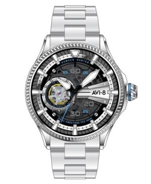 Men's Hawker Hunter Avon Automatic Diamonds Silver Tone Stainless Steel Bracelet Watch