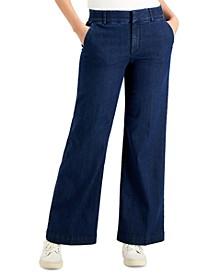 Wide-Leg Denim Trouser, Created for Macy's