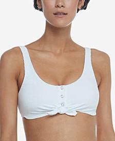Juniors' Ibiza Ribbed Crop Bikini Top