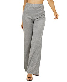 High-Waisted Metallic Pants