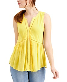 Crochet-Trim Sleeveless Top, Created for Macy's