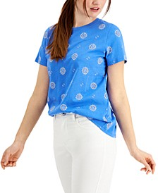 Printed Crewneck Top, Created for Macy's