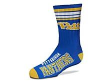 Pittsburgh Panthers Youth 4 Stripe Deuce Crew Socks