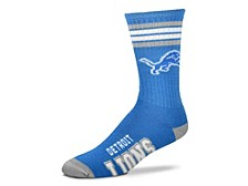 Detroit Lions Youth 4 Stripe Deuce Crew Socks