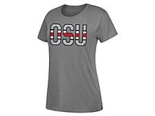 Ohio State Buckeyes Women's Team Stripe Dual Blend T-Shirt