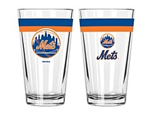 New York Mets 16oz Double Banded Pint Glass