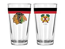 Chicago Blackhawks 16oz Double Banded Pint Glass