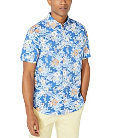 Men's Classic Fit Tropical Floral Print Shirt