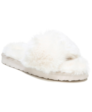 Sam Edelman WOMEN'S JINNIE FLUFFY SLIDE SLIPPERS WOMEN'S SHOES