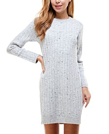 Juniors' Mock-Neck Sweater Dress