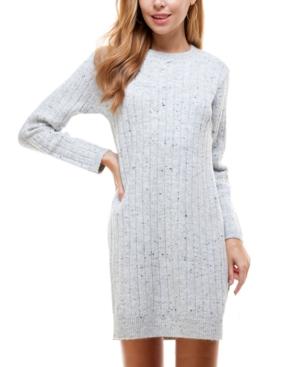 Juniors' Mock-Neck Sweater Dress
