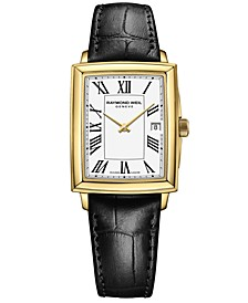 Women's Swiss Toccata Black Calf Leather Strap Watch 25x35mm