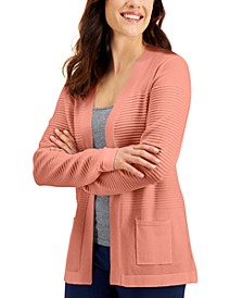 Open-Front Ribbed Cardigan, Created for Macy's