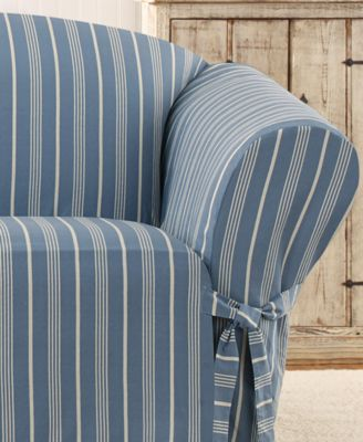 Sure Fit Grainsack Stripe Slipcover Collection Slipcovers For