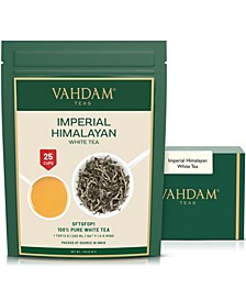 Imperial Himalayan White Tea Leaves, Rare Extraordinary, 25 Servings