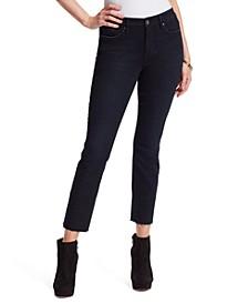 Arrow Frayed-Hem Ankle Jeans