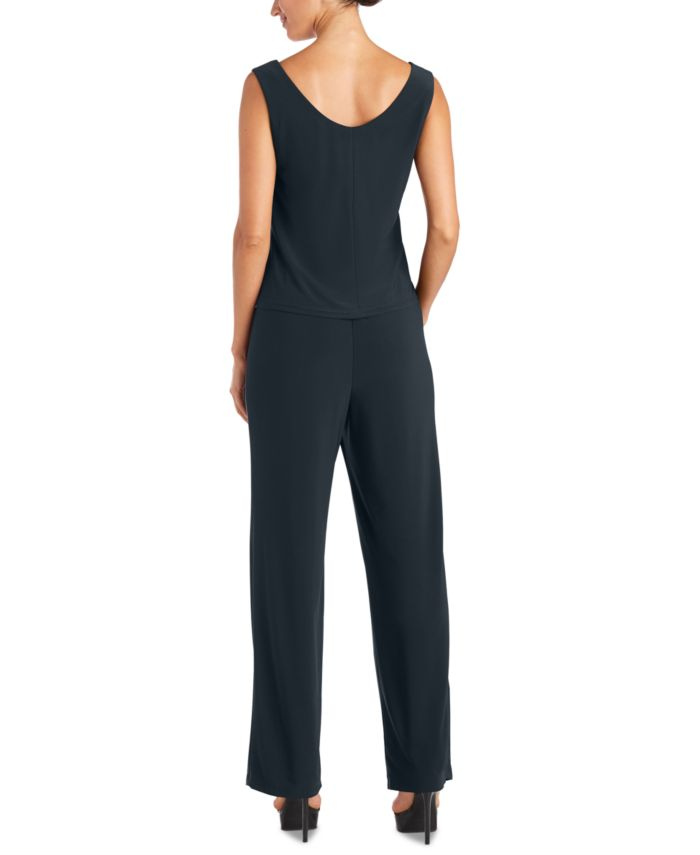 R & M Richards Petite Rhinestone-Trim 3-Pc. Pantsuit & Reviews - Dresses - Petites - Macy's