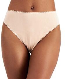 Women's Cotton High-Cut Brief Underwear, Created for Macy's