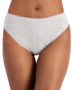Charter Club Cottons WOMEN'S COTTON HIGH-CUT BRIEF UNDERWEAR, CREATED FOR MACY'S