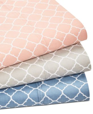 Printed Geo Full 4-pc Sheet Set, 500 Thread Count, Created for Macy's