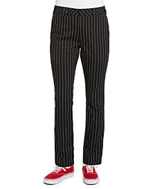 Junior's Pinstriped Straight-Leg Pants