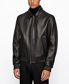 BOSS Men's T-Nurey Regular-Fit Leather Jacket