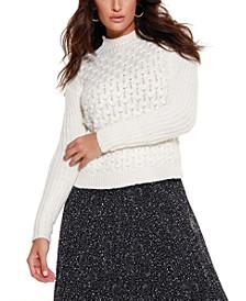 Black Label Mock Neck Pullover Sweater