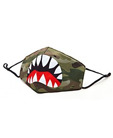Shark Camo Printed Face Mask