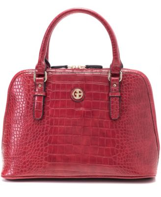 Croc Dome Satchel, Created for Macy's