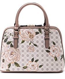 Floral Signature Dome Satchel, Created for Macy's
