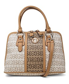 Signature Stripe Dome Satchel, Created for Macy's