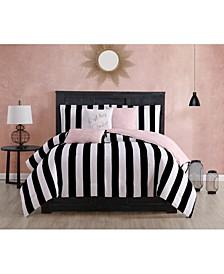 Cabana Stripe Reversible Comforter Set, 6 Piece, Queen