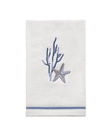 Abstract Coastal Fingertip Towel