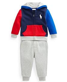 Ralph Lauren Baby Boys Graphic Fleece Sweatshirt Pant Set