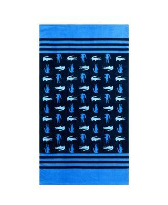 Chroma Cotton Stripe Logo Beach Towel