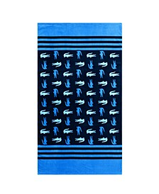 Chroma Cotton Stripe Logo Beach Towel
