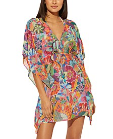 Printed Caftan Swim Cover-Up