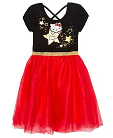 Big Girls Shine Bright Hello Kitty Short Sleeve Tutu Dress