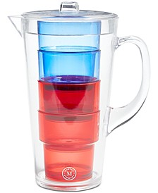 Acrylic Pitcher & Glasses, 5-Pc. Set, Created for Macy's